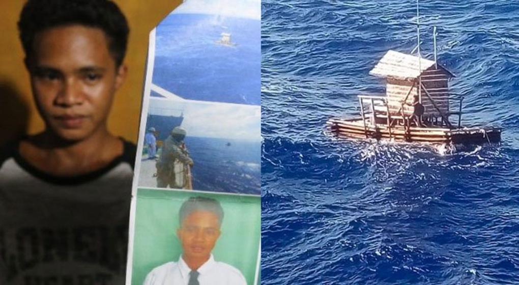 Un joven de 19 años sobrevivió 49 días a la deriva en el mar en una balsa: así fue rescatado