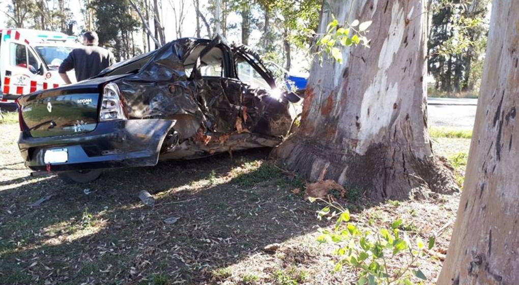 Chocó contra un árbol y murió cerca de Villa María