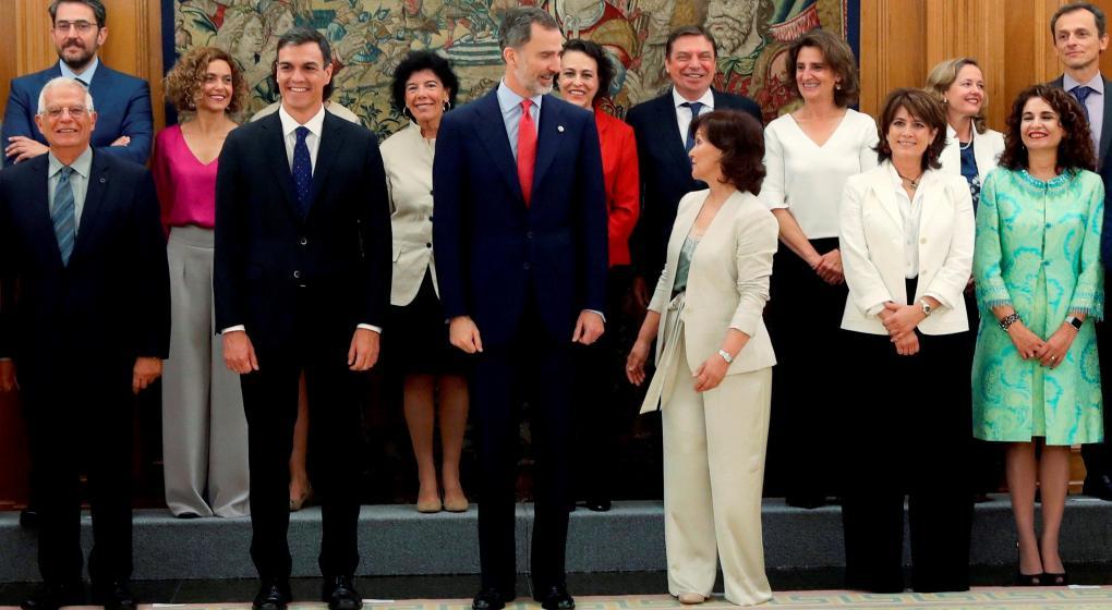 España, con el gabinete con más mujeres de su historia