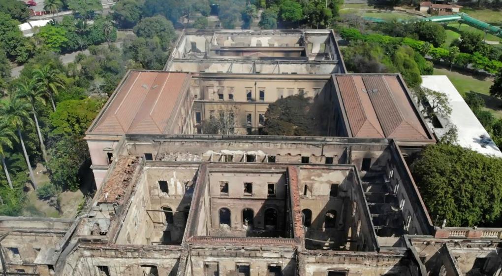 Recriminaciones en Brasil por el incendio del Museo Nacional