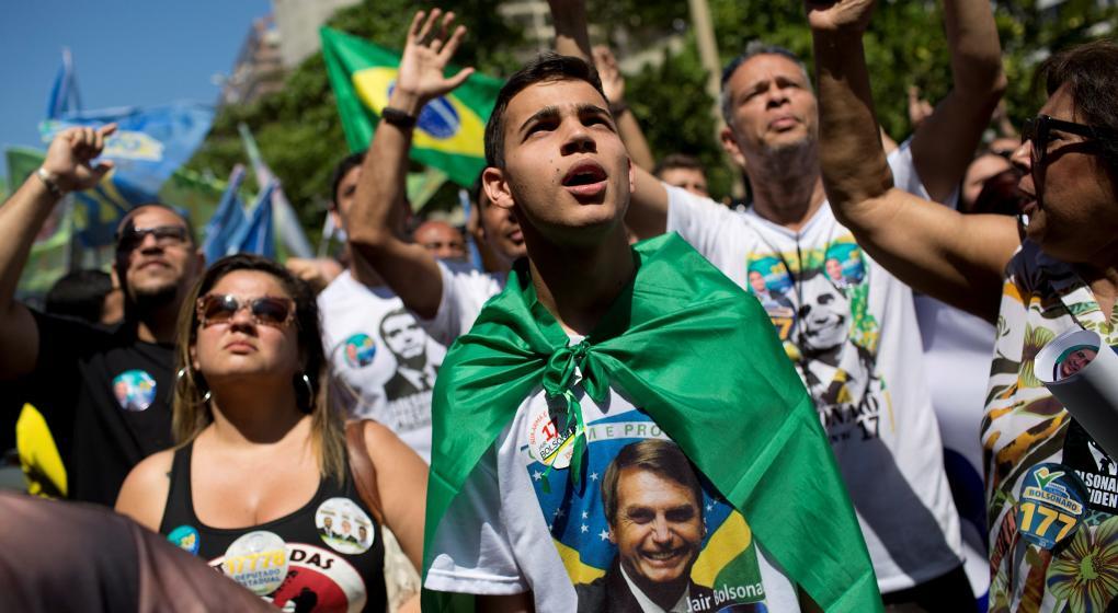 Muestras de apoyo popular a Bolsonaro en Brasil