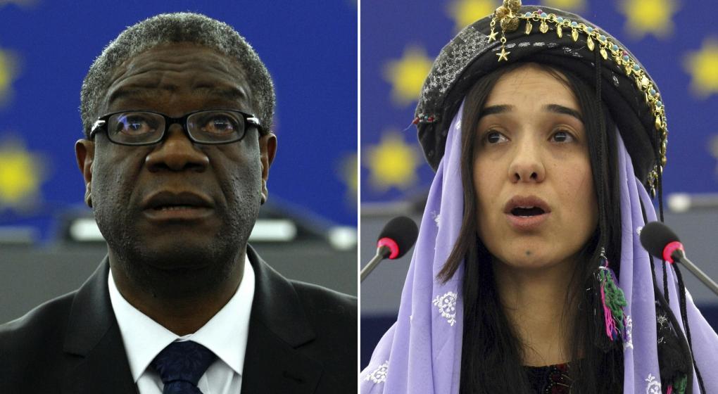 La lucha contra la violencia sexual, premio Nobel de la Paz