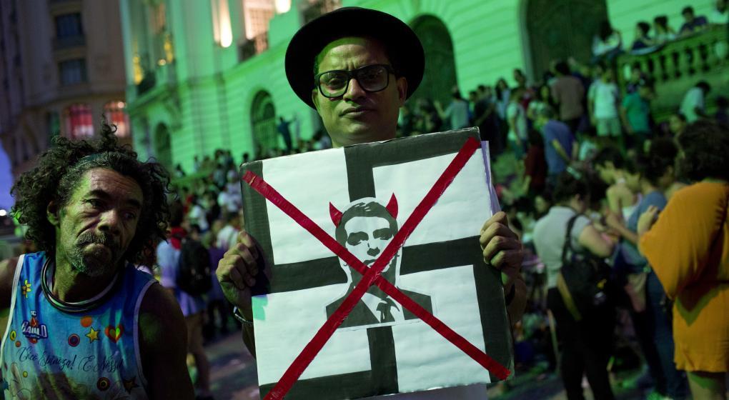 Los artistas, en contra de Bolsonaro
