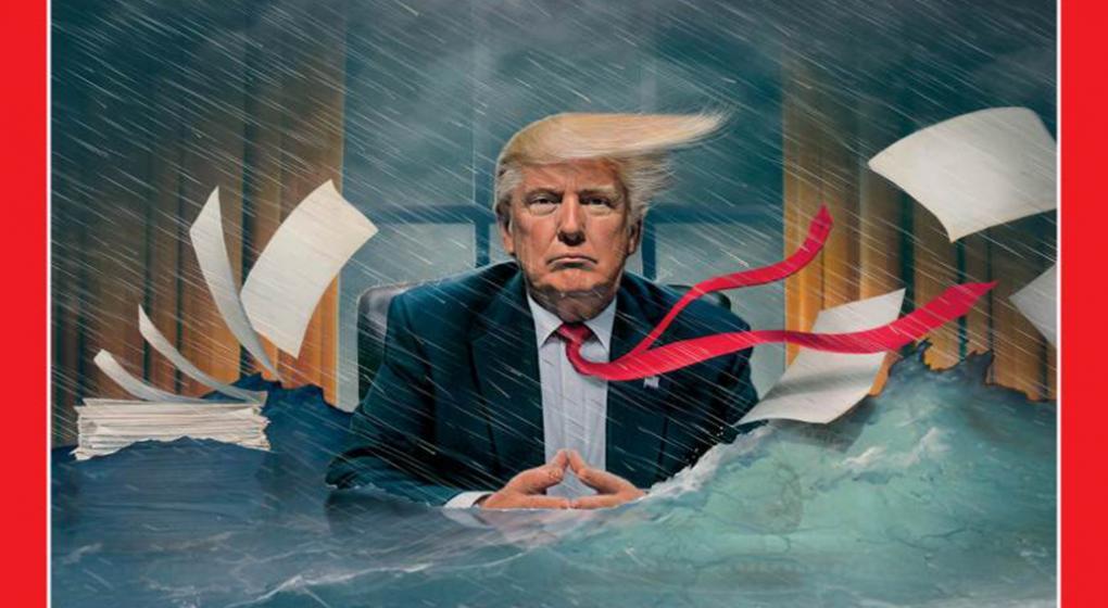 """La presidencia de Trump en las portadas de """"Time"""""""