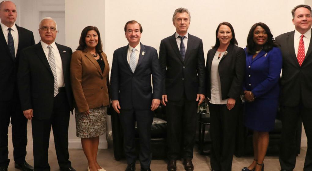 En Olivos, Macri se reunió con congresistas de Estados Unidos