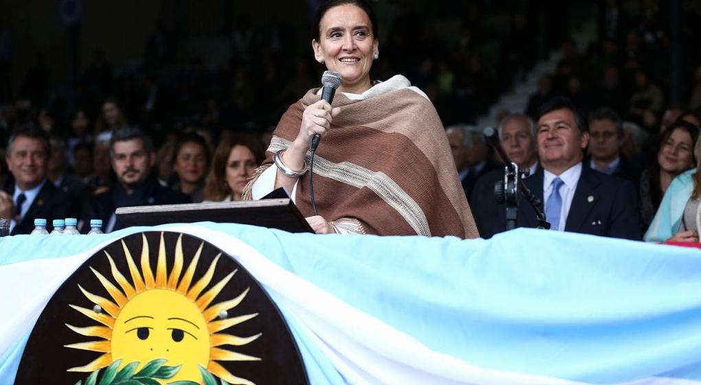 Gabriela Michetti, la primera mujer en inaugurar la Rural