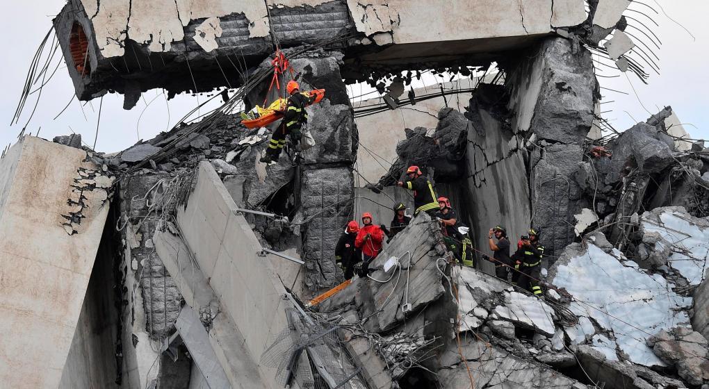 """Las hipótesis del derrumbe en Génova: un """"puente enfermo"""""""