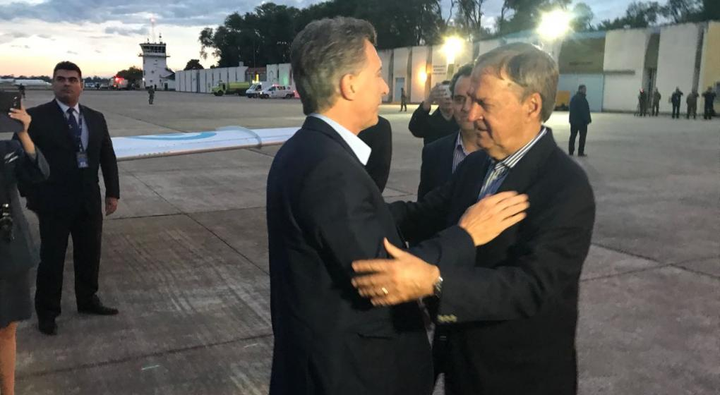 Macri llegó a Córdoba: verá el partido de Boca contra Palmeiras en Río Cuarto
