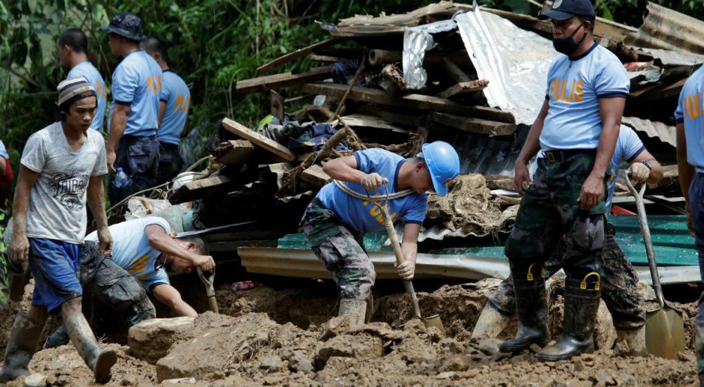 Casi un centenar de filipinos sepultados en una mina tras el paso del tifón Mangkhut