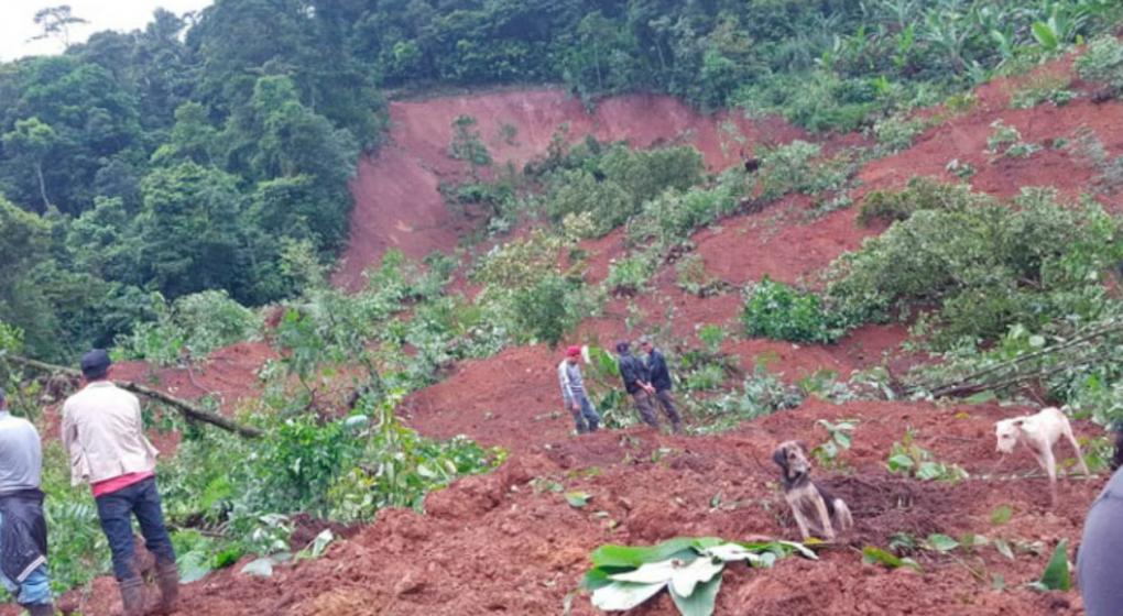 Alud mató a una familia completa en Nicaragua