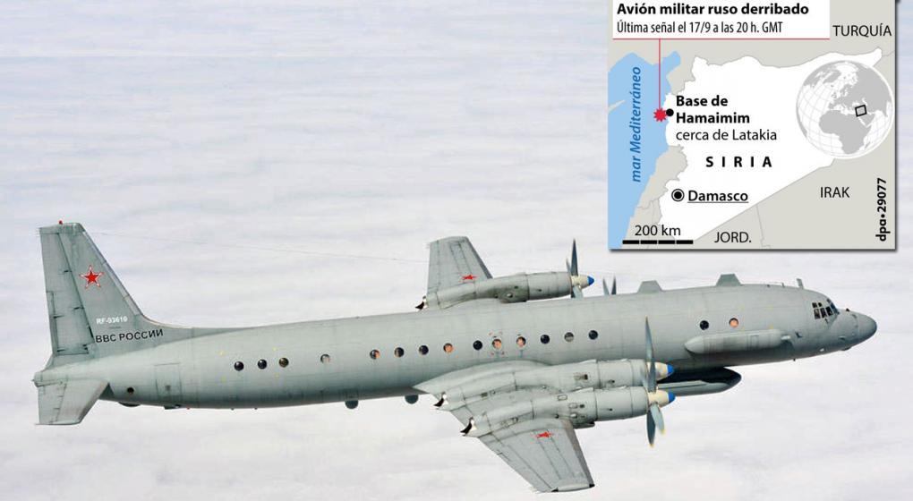 Israel dice que el avión ruso con 15 militares fue derribado por Asad, Irán y Hizbulá