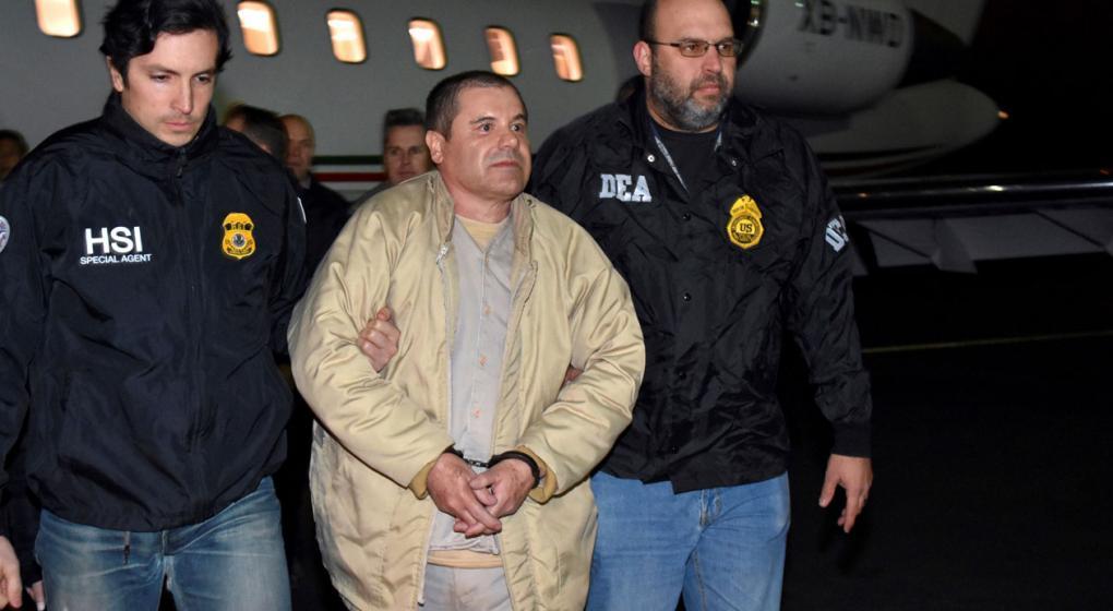 """El juez le negó al """"Chapo"""" Guzmán poder abrazar a su esposa"""