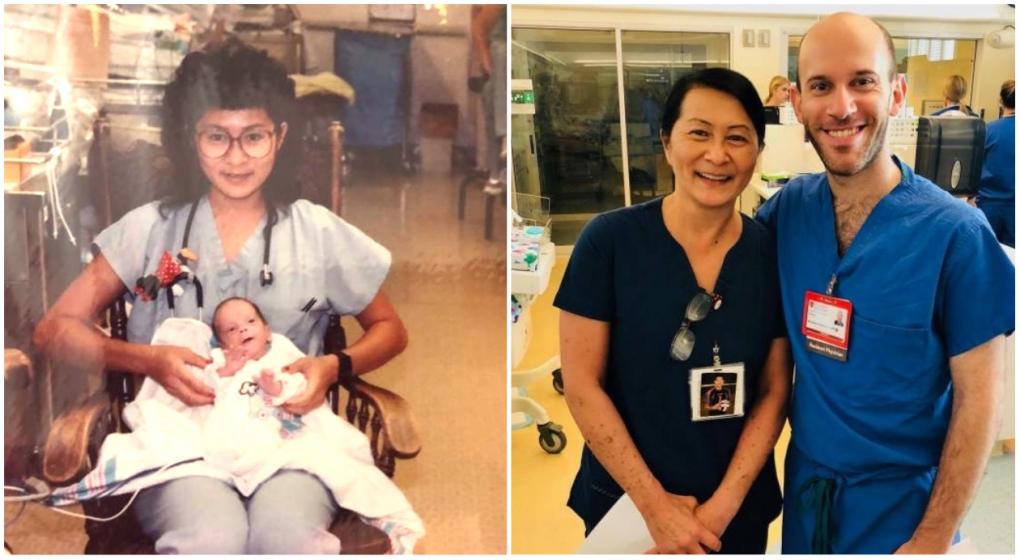 Hace 28 años le salvó la vida y ahora lo tiene como compañero de trabajo