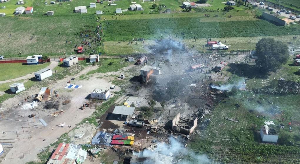 Al menos 19 muertos y 31 heridos en explosión de un polvorín de pirotecnia en México