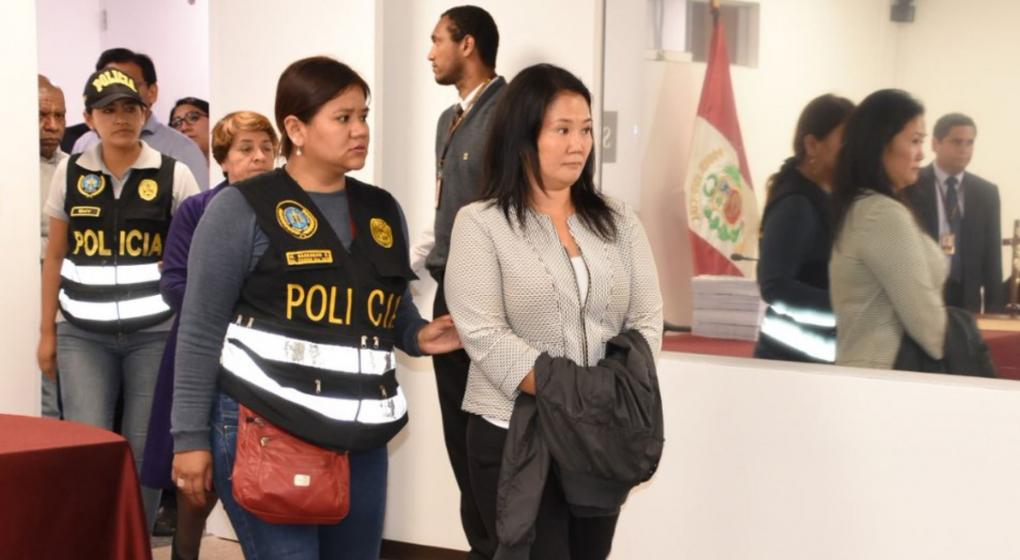 Dictaron 3 años de prisión preventiva para Keiko Fujimori
