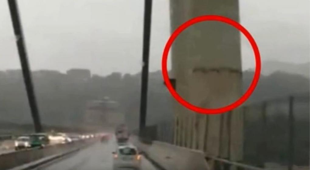 Difunden un nuevo video que muestra cómo el puente de Génova se partía antes de la tragedia