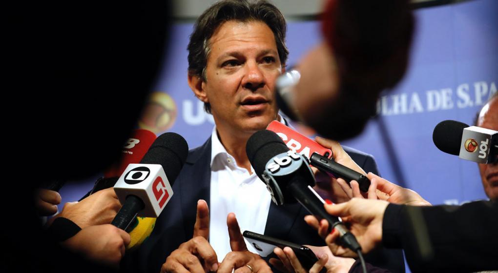 El candidato del PT dice que no indultará a Lula en caso de ser presidente de Brasil