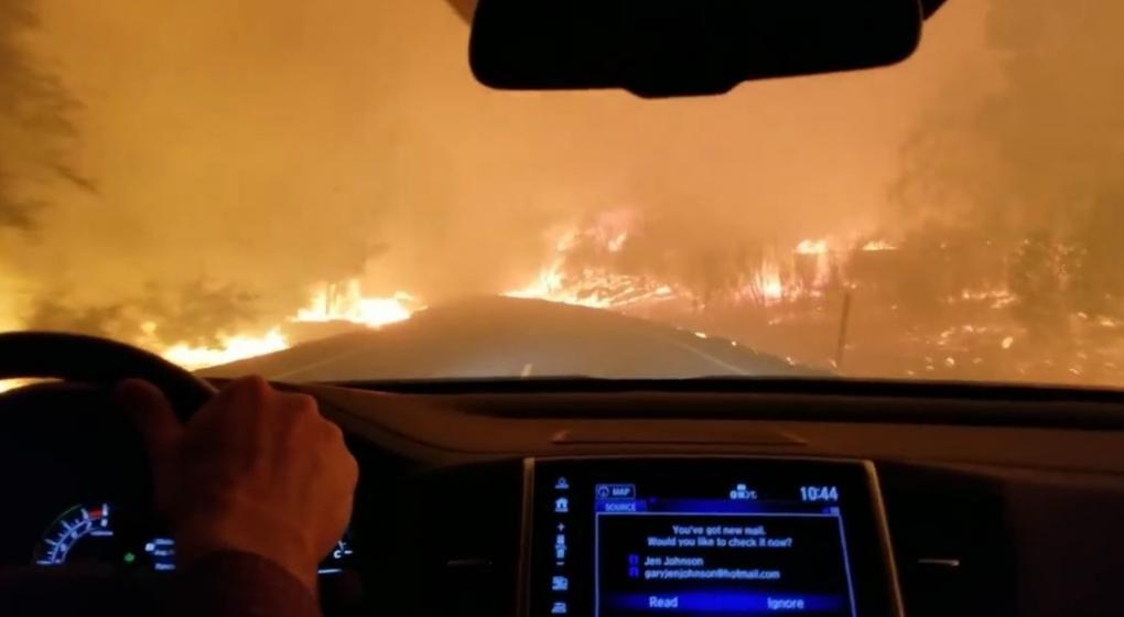 """Cómo huir del """"infierno"""": así escapó una familia del fuego en California"""