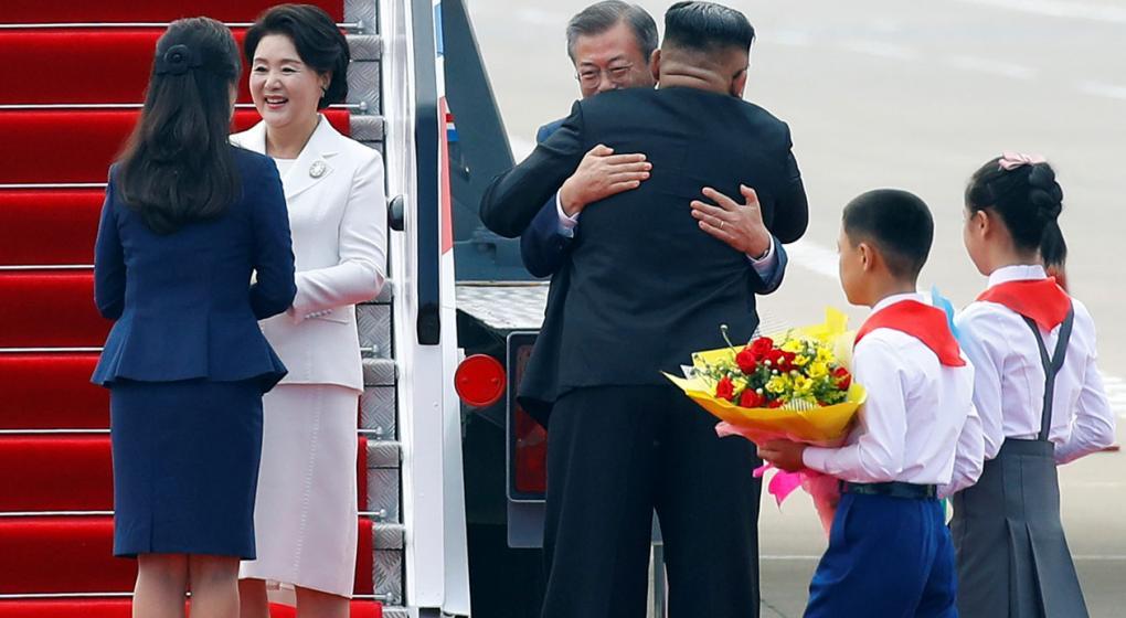 Por primera vez en 11 años, un presidente de Corea del Sur viajó a Norcorea