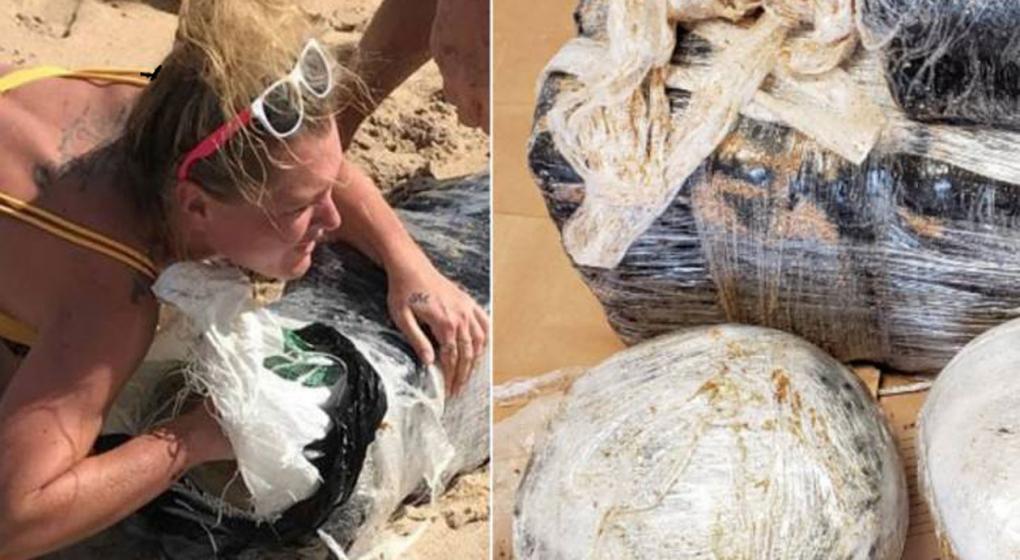 EE.UU.: buscan a mujer abrazando paquete de marihuana que salió a flote tras huracán
