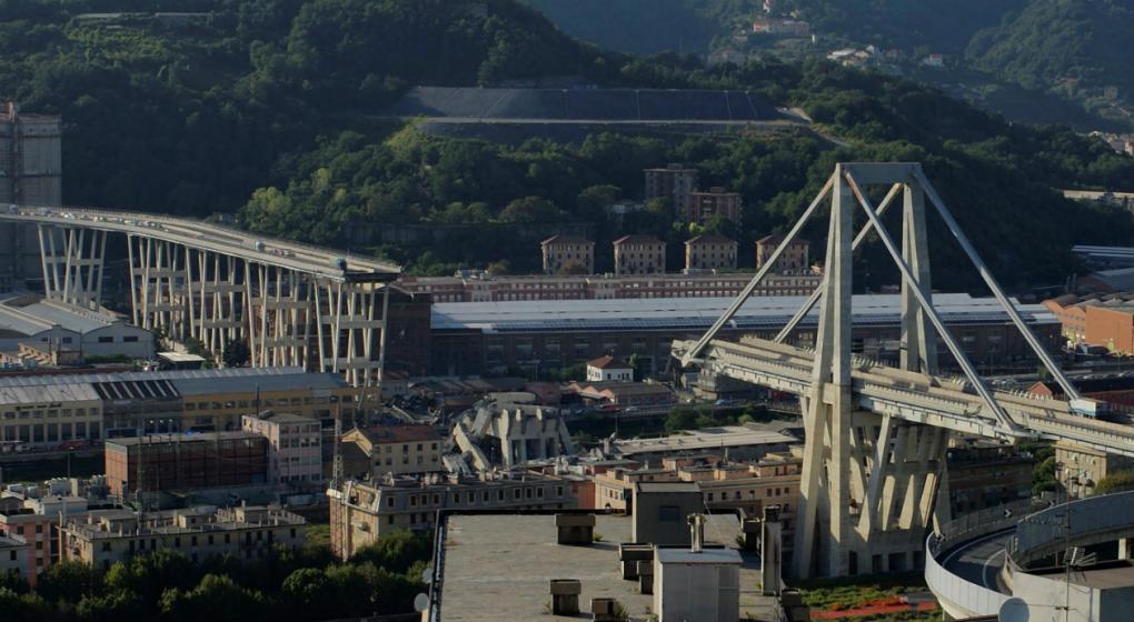 Impresionante simulación de cómo fue la caída del puente en Italia