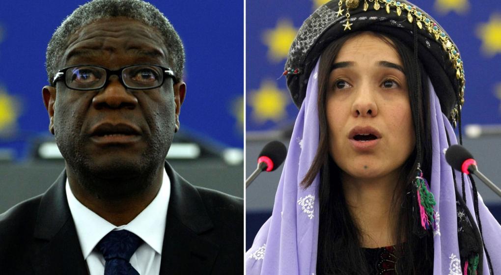Nobel de la Paz para un médico congoleño y una activista iraquí