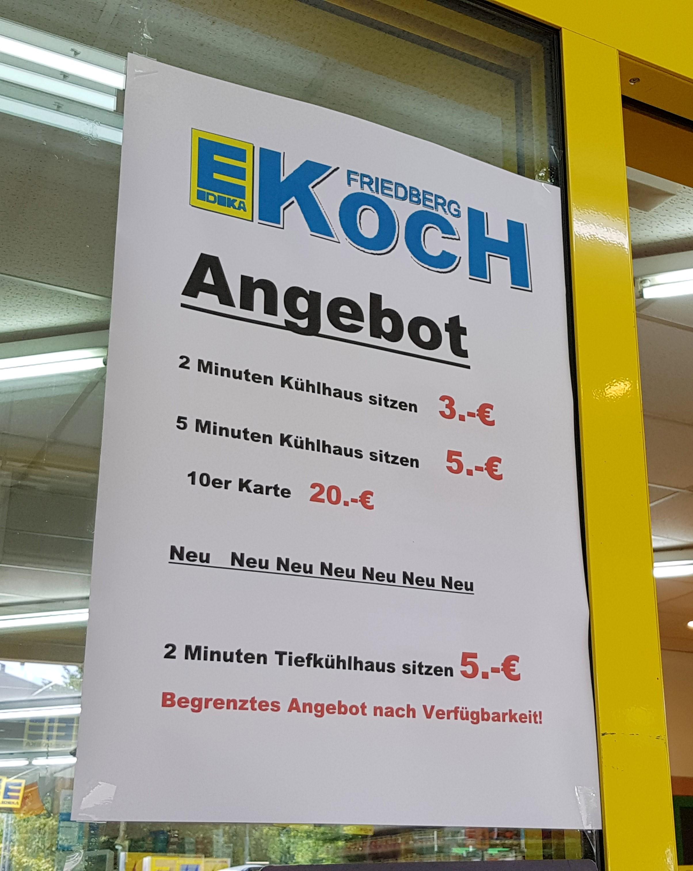 Resultat d'imatges de en la nevera supermercado koch friedberg