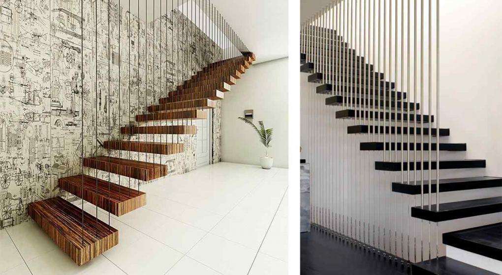 C mo personalizar tus escaleras con barandas y pasamanos - Pasamanos de cuerda ...