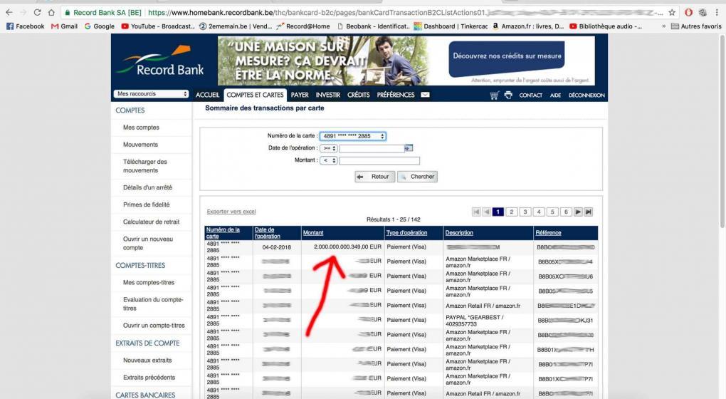Un belga descubrió 2000 billones de euros en su cuenta bancaria ...