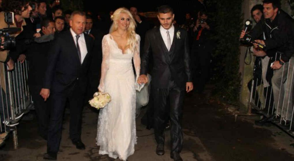vestido de novia wanda nara